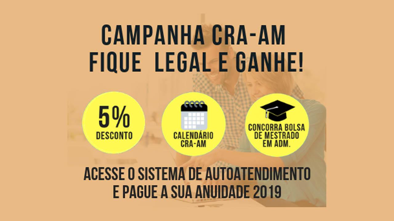 A Campanha Fique Legal e Ganhe do CRA-AM continua!