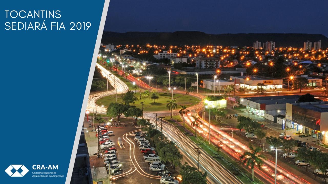 FIA de 2019 será realizado em Tocantins