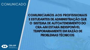 Comunicado: Sistema de Autoatendimento fora do ar