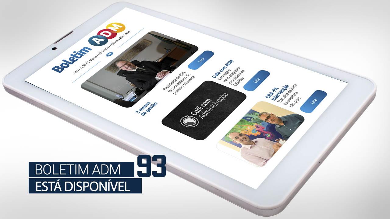 Boletim ADM 93 está disponível