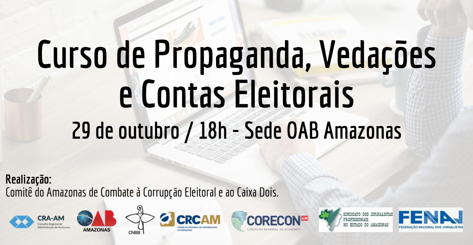 Curso de Propaganda, Vedações  e Contas Eleitorais