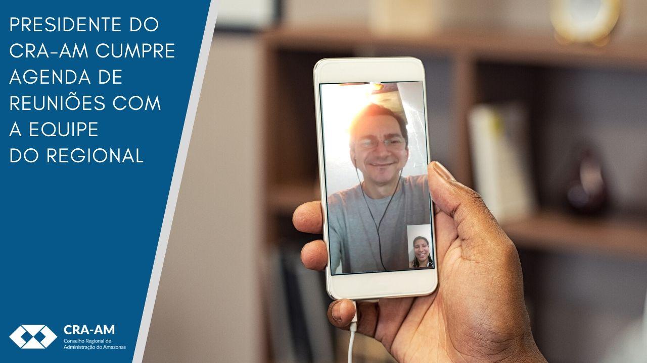 Reuniões realizadas por videochamada interligam a equipe do Conselho que continua trabalhando em home office