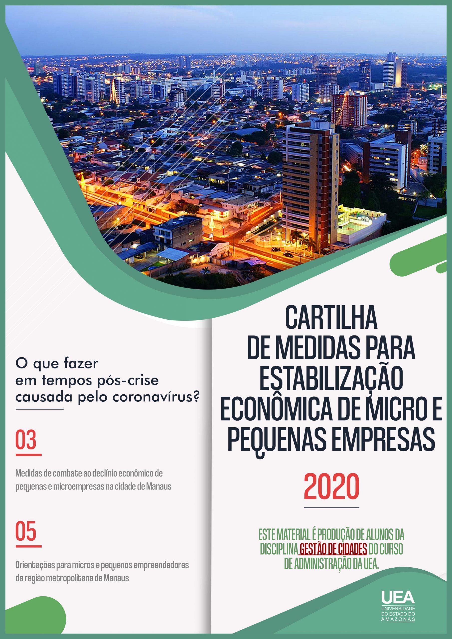 CARTILHA DE MEDIDAS PARA ESTABILIZAÇÃO ECONÔMICA DE MICRO E PEQUENAS EMPRESAS