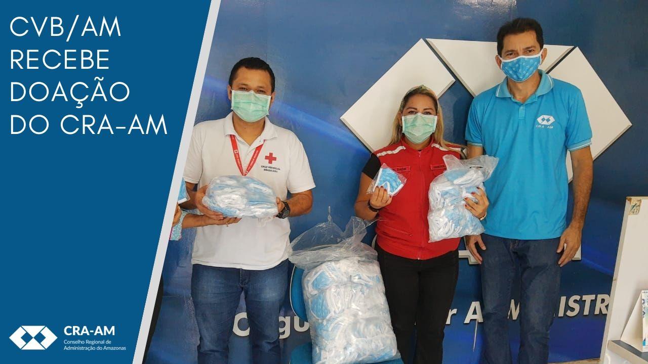 CRA-AM auxilia Cruz Vermelha Brasileira com a doação de 500 máscaras para uso nas ações de educação em saúde na prevenção ao Coronavírus no Amazonas