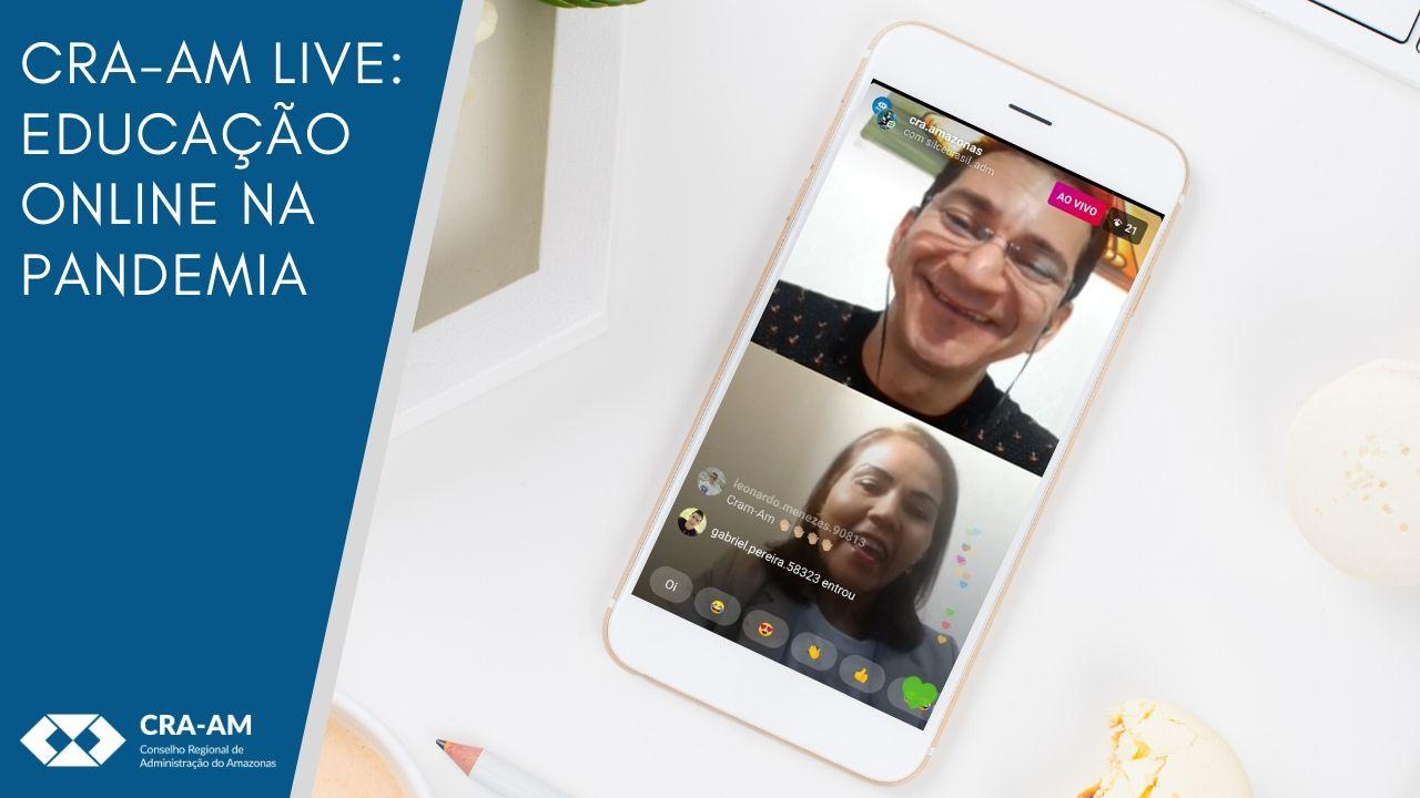 Live no Instagram abordou os desafios e dificuldades no uso das plataformas online para o ensino superior durante a pandemia