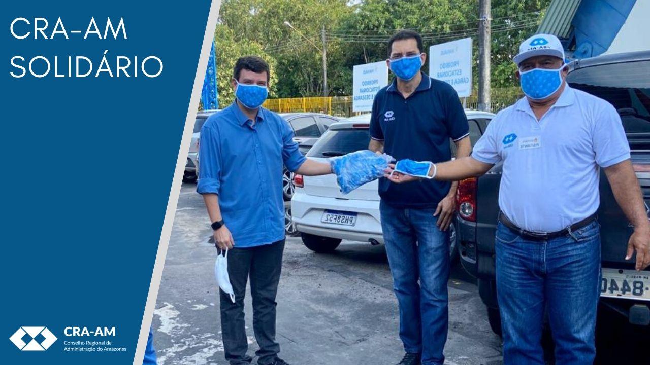 Visando amenizar os danos causados pela pandemia do coronavírus, CRA-AM doa máscaras e adere a campanha solidária