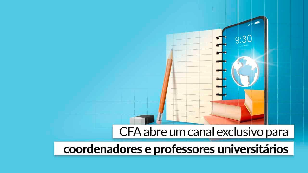 Faça parte e conheça as iniciativas do Sistema CFA/CRAs para o mundo acadêmico