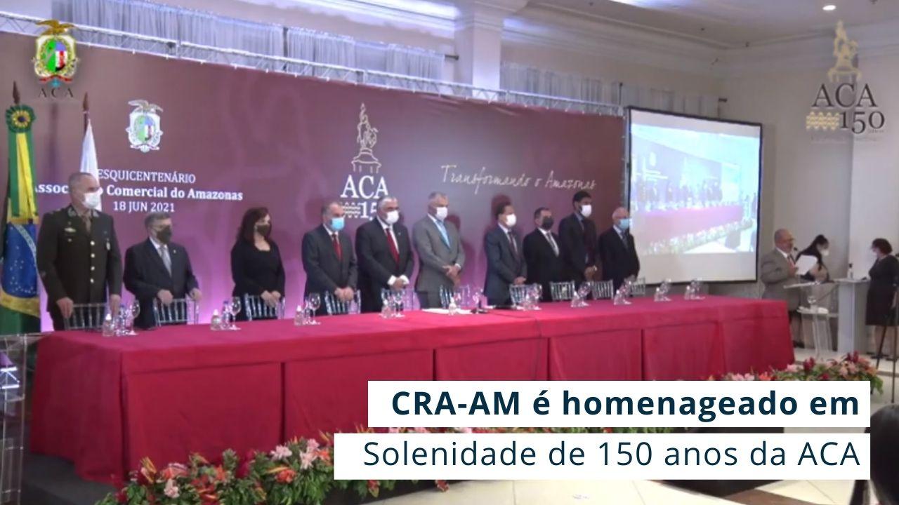 Adm. Nelson Aniceto recebeu em nome do CRA a Medalha do Sesquincentenário da Associação Comercial do Amazonas