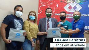 Comitiva do CRA-AM esteve na Ilha Tupinambarana cumprindo diversas ações em alusão ao aniversário da representação do município