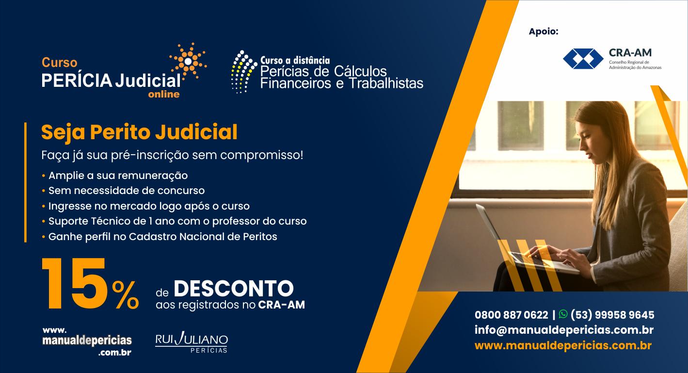 Seja Perito Judicial de Sucesso – Cursos com 15% de Desconto