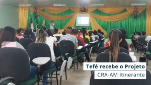 Read more about the article Equipe do CRA-AM esteve em Tefé participando de diversas atividades como palestras, reuniões e visitas técnicas